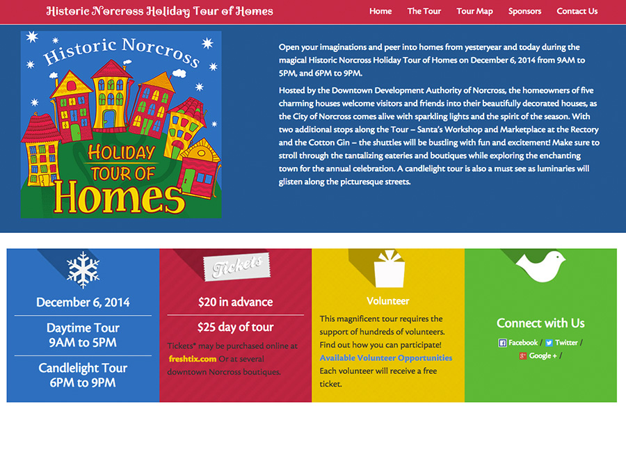 Thumbnail of Web Design for Norcross Holiday Tour of Homes Website